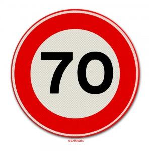 70 km per uur
