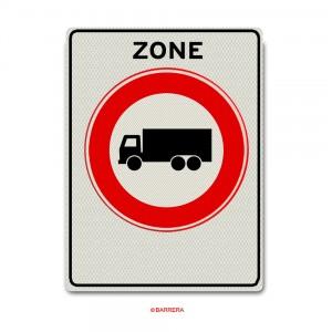 Zone gesloten voor vrachtauto's