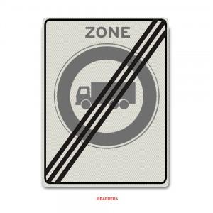 Einde Zone gesloten voor vrachtauto's