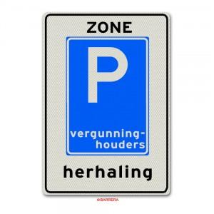 E09zh parkeren vergunninghouders