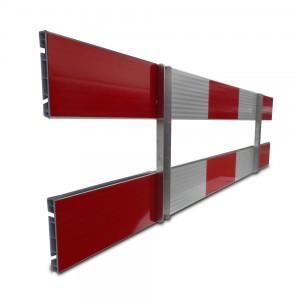 aluminium schrikhek 250 cm