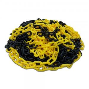geel zwarte kunststof ketting