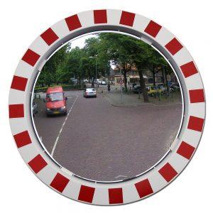 ronde verkeersspiegel