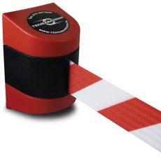 wandcassette rood wit afzetlint