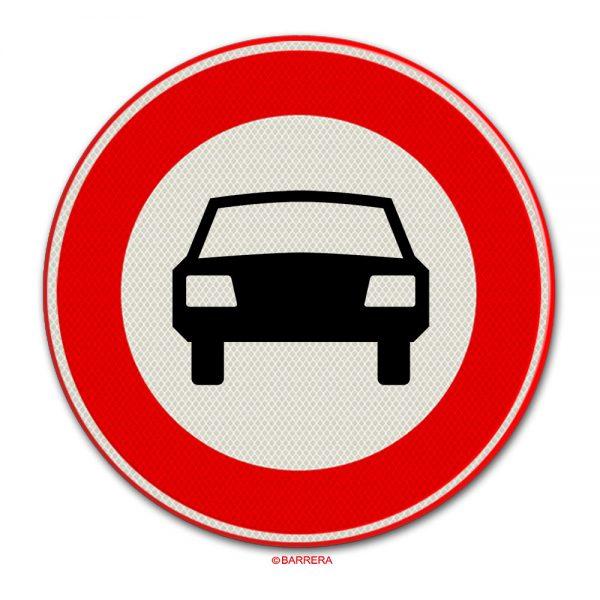 gesloten voor motorvoertuigen