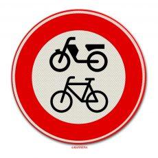 gesloten voor fietsen en bromfietsen