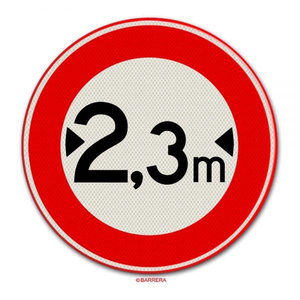gesloten voor voertuigen breder dan