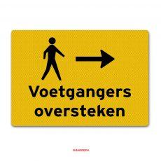voetgangers oversteken