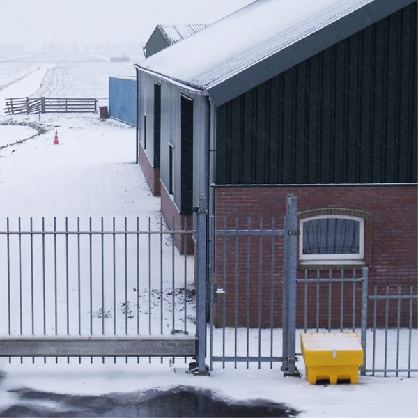 zoutkist in sneeuw