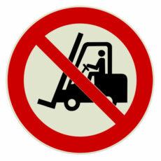 verboden voor heftrucks