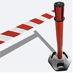 Rode kunststof barrier 100s (100x30x50cm)