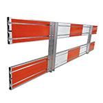 Kunststof barrier rood hoekstuk voor barrier 100 en 150