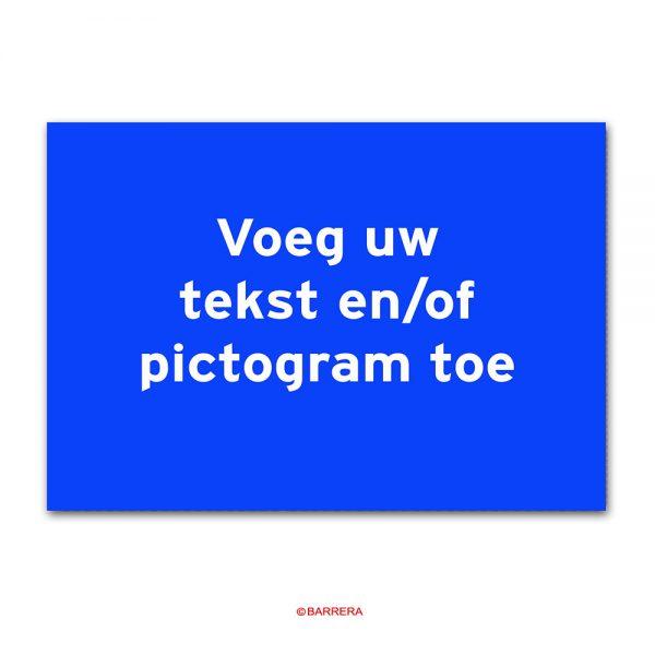 Blauw Tekstbord