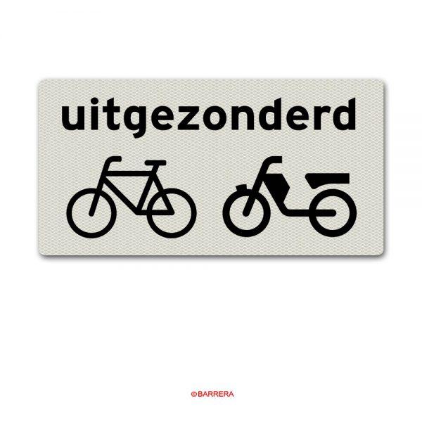 uitgezonderd fietsers