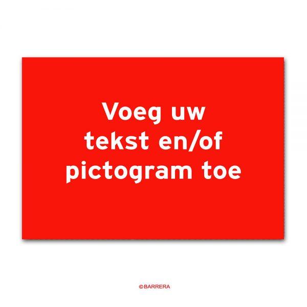 Tekstbord van PVC
