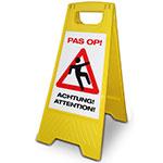 Veiligheidsharnas verplicht RVS bordje met standaard
