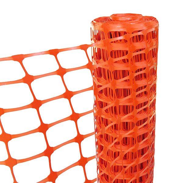 Afzetgaas van oranje kunststof
