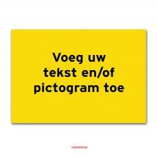 geel tekstbord