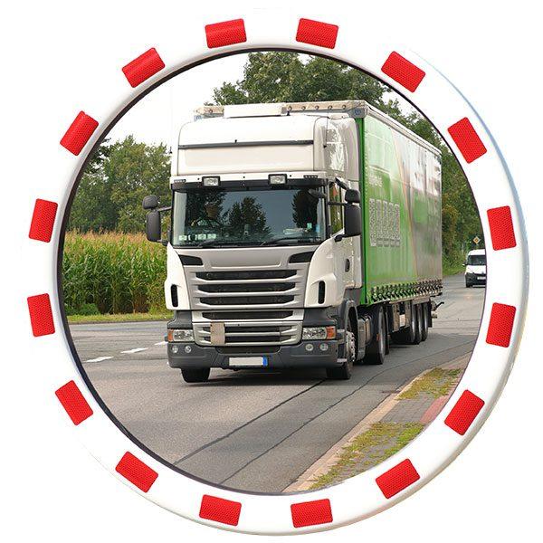 verkeerspiegel rond 80