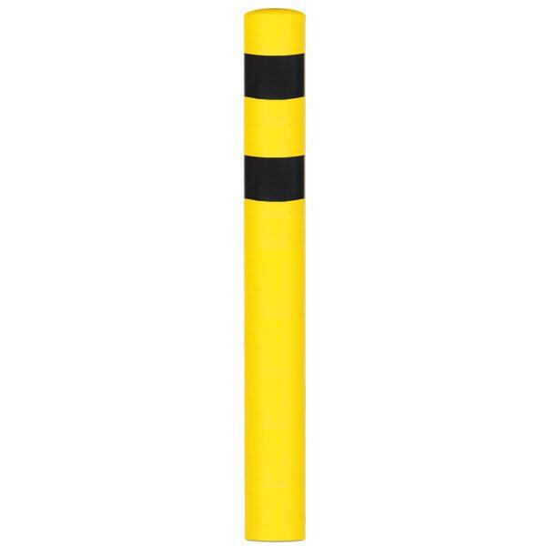 geel zwarte beschermpaal aardebaan