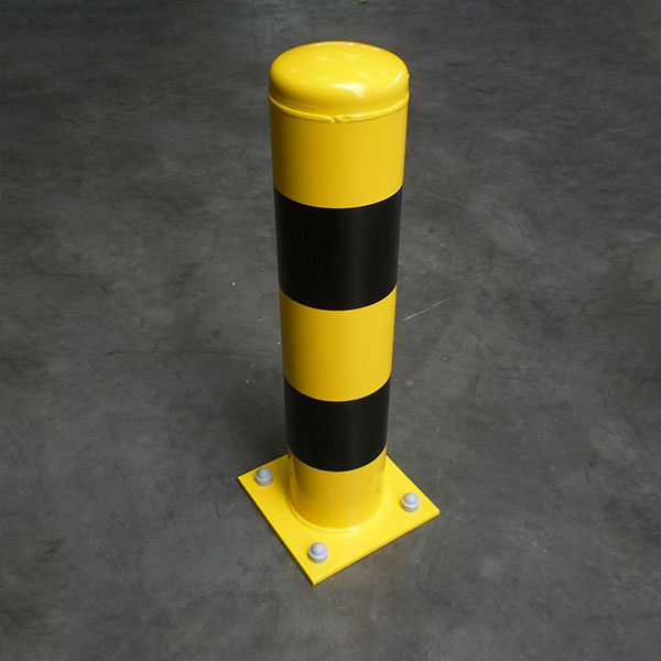 geel zwarte beschermpaal