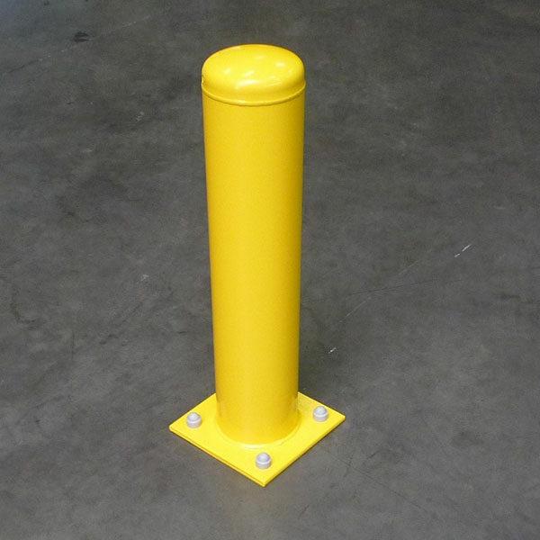 gele beschermpaal