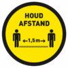 houd afstand sticker