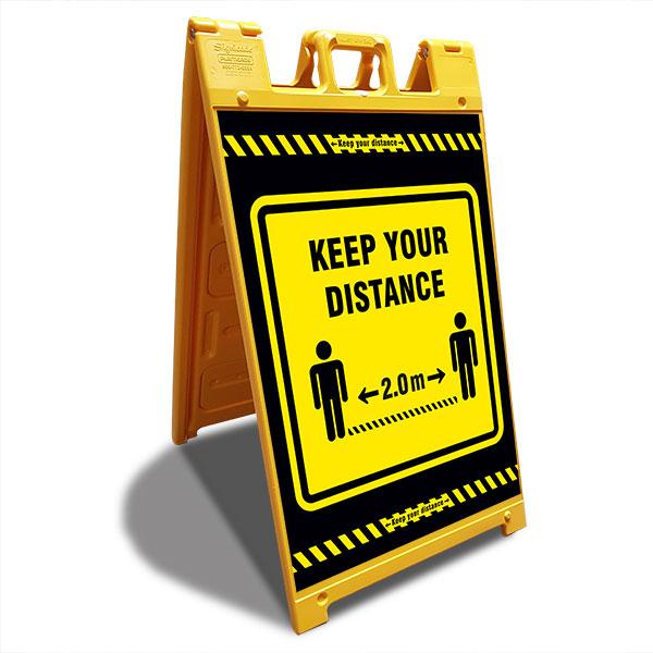 keep your distance a-frame