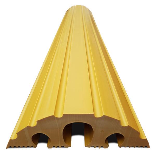 Gele kabelbeschermer
