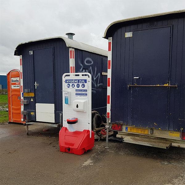 hygienestation op bouwplaats