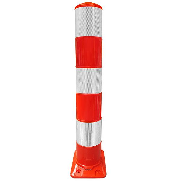 oranje witte flexpaal