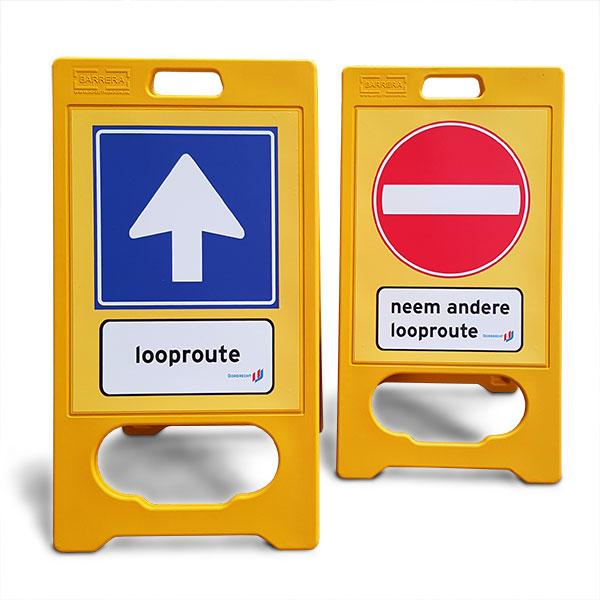 Looproute stoepbord