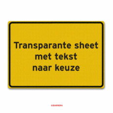 transparante sheet