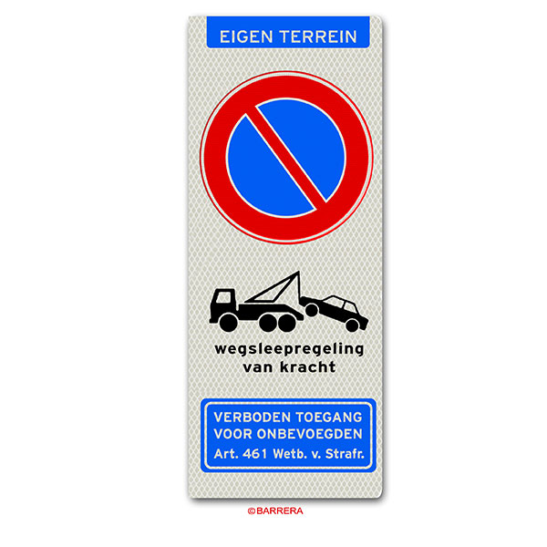eigen terrein verboden te parkeren
