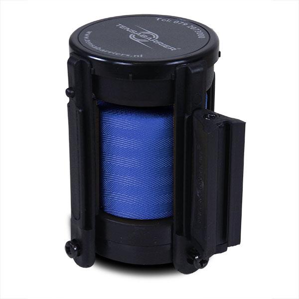 cassette met donkerblauw lint