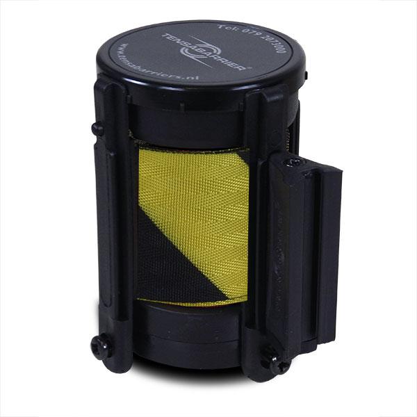 cassette met geel zwart lint