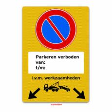 parkeren verboden pijlen
