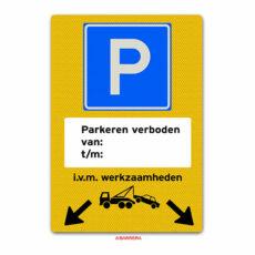 niet parkeren met pijlen