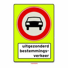verboden voor motorvoertuigen