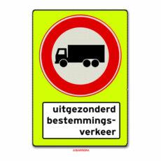 geen vrachtauto's